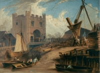The South Gates, King's Lynn 1854 by Thomas Baines (1820-1875)